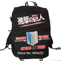 high quality 1121 new attack on titan anime action backbag bag canvas strap satchel manga shoulder