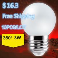 10pcs/lot 3W 5w 7w 220V 360degress Globel led bulb E27 edison led lamp Light Free Shipping wholesale