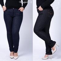 Plus size XL-6XL plus size clothing jeans trousers high elastic waist pencil pants