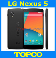 LG Nexus 5 Original Unlocked  Android phone Quad-core GSM 3G&4G WIFI GPS 4.95'' 8MP ROM 16GB RAM 2GB Mobile phone Free shipping