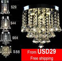 Luxury Modern design crystal lighting free shipping best selling 120mm crystal chandelier 110-240V