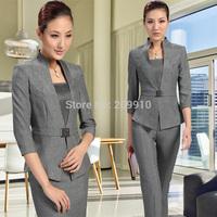 Fashion work wear career women's skirt summer set women's formal skirt set 3xl Business Office Elegant Suits  Sets