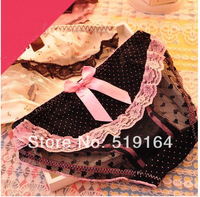Free Shipping! Lace Panties Briefs Lingerie Bowknot Pattern Underwear