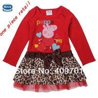 NOVA brand kids girl dress new 2014 children clothes girl peppa pig dress Kids summer cute dresses H4715