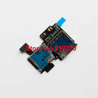 50pcs/lot New Sim Card Holder Slot Tray Flex Cable Replacement For Samsung Galaxy S4 i337 Free DHL EMS
