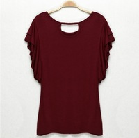 2014 New clothes fashion O-neck t shirt for women casual summer women's t shirt shorts tops & tees t-shirt 4 colors