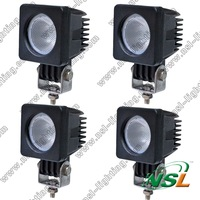 4PCS 2INCH 10W CREE LED WORK LIGHT 800LM FLOODBEAM FOG LIGHT FOR OFFROAD MOTORCYCLE BOAT4x4 ATV 12V24V