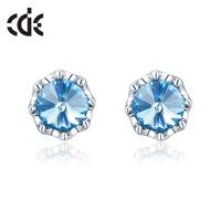 Cde austria crystal earrings stud earring female fashion drop earring accessories gift