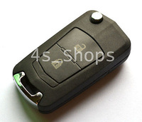 Blank Uncut Flip Folding Key Shell Case FOR Hyundai Santa Fe Elantra 2 BUTTONS