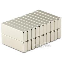 N50 20PCS Super Strong Block Cuboid Magnets Rare Earth Neodymium 30 x 10 x 5 mm Free Shipping
