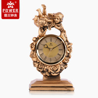 POWER Deluxe Continental fashion new upscale hotel is a classic personality living room resin craft clock