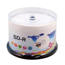 50 Pack Bluray Disc 25GB 130Min BD-R 6x Speed full Printable Blu-Ray Blank Disc(China (Mainland))
