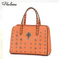 Brand design 2014 summer women vintage Crow heart cross shoulder bag lady PU leather handbag casual handbag freeshipping