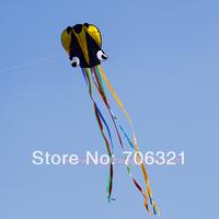NEW 4m Stunt black Octopus POWER Sport Kite winder lines 30m outdoor toys
