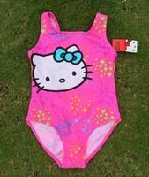 Children Swimwear Baby Girls Kids Cartoon Lovely Hello Kitty Bikini Two Pieces swimsuit Bathing suit Beachwear