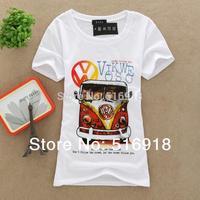 2014 New Topic Free Shipping T Shirt Women tees women type T-shirts Short Sleeve Quicker Shipping Women's Printed T Shirts