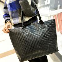 Women PU Leather Messenger Handbag Fashion Tote Shoulder Bags Desigual Large Capacity PU Weave Bags Design DJ1024