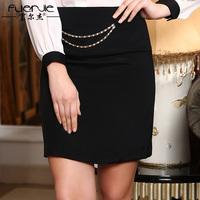 2014 spring fashion street style heavy silk short skirt slim all-match mulberry silk step skirt