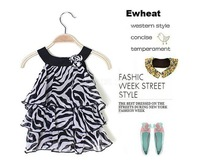 6pcs/lot girl dress leopard 2014 New Arrival Baby Girl Fashion Leopard/ Zebra Cake Dress Kid's Dress girls leopard dresses