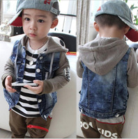 new 2014 hot selling Spring and Autumn coats and jackets for children kids jackets children outerwear kid's Cardigan Retail blue