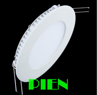 Free Fedex 18W AC 86-265V 2835 SMD led Panel Light 1600LM Round LED Ceiling Wall Light Recessed Down light white by DHL 20pcs
