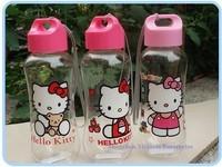 12PCS Kawaii Hello Kitty PP Plastic Water Drinking Bottle Cup Sports Water Bottle ; Healthy Convenient Kid's Bottle