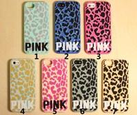 Lightning Sales Victoria PINK Leopard Design Soft Silicon Back Cover Case For Apple Iphone 4 4s Secret Phone Cases
