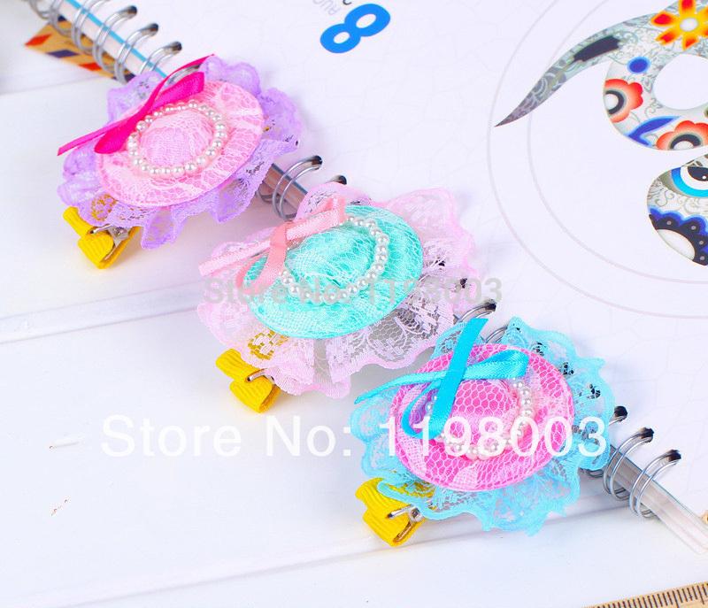 20 pcs/lot Kids/Girl/Princess/ Baby Ribbon Hair clip ,Hair Accessories ,Bud silk hat Hairpins&Baby Girl Barrettes(China (Mainland))