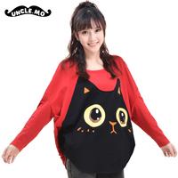 Cat loose long-sleeve T-shirt fashion juniors clothing classic