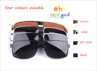 2014New Arrival Hot Style  Man's Driving Anti-uv Fashion Sunglasses Nice Stainless glasses Large Brand 4 colours Free Shipping