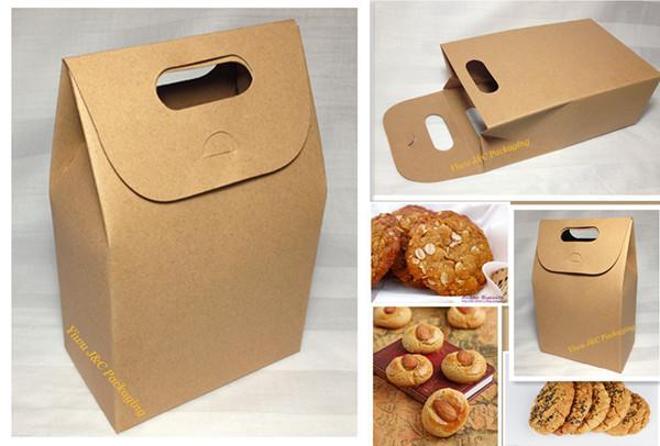 50pcs Hot Natural Brown Kraft Paper Biscuit Box,Cookie Box,Paper Gift Packaging Box,Treat Box (JCO-556)(China (Mainland))