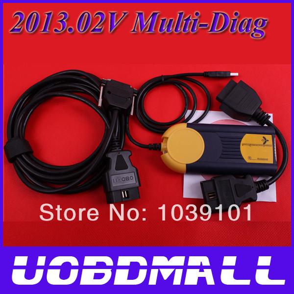 Latest 2013.02V Multi-Diag Access J2534 Pass-Thru OBD2 Device DHL Free