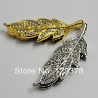 Gold leaf 8G usb flash drive metal and crystal gift usb flash drive