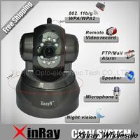 Free Shipping New EasyN Wireless WIFI IP Camera IR LED 2-Audio Nightvision Black F-M166 Day & Night Pan/Tilt IP Camera