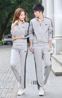 Special couples suite spring / autumn male / female cotton track suit wholesale fashion men / women outdoor sports suit