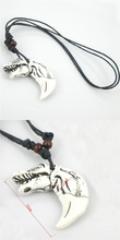 Free shipping 1pcs Tibetan Yak bone carving Animal totem pendant supporter talismans necklace Jewelry