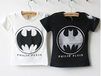 baby girls T-shirt kids children batman short sleeve 2014 summer Boys tee shirt 0327 sylvia 38040593458
