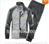 FREE SHIPPING,adid man sportswear tracksuit set jacket+pants,brand with logo men's leisure jogging suit set sport suit men