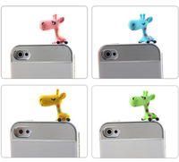 $15 Free Shipping wholesale hot sale kpop cute giraffe anti dust plug for cell phone/ks brand Can do cable winder earphone cap