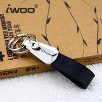Free shipping Cowhide leather men women key pendant Creative key chain Korean auto M026 Christmas