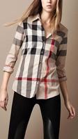 Top Quality Classic 2014 Women Brand Designer Long Sleeve Big Plaid Casual   Shirts,Office Check T-shirts Tops Blouses Shirt