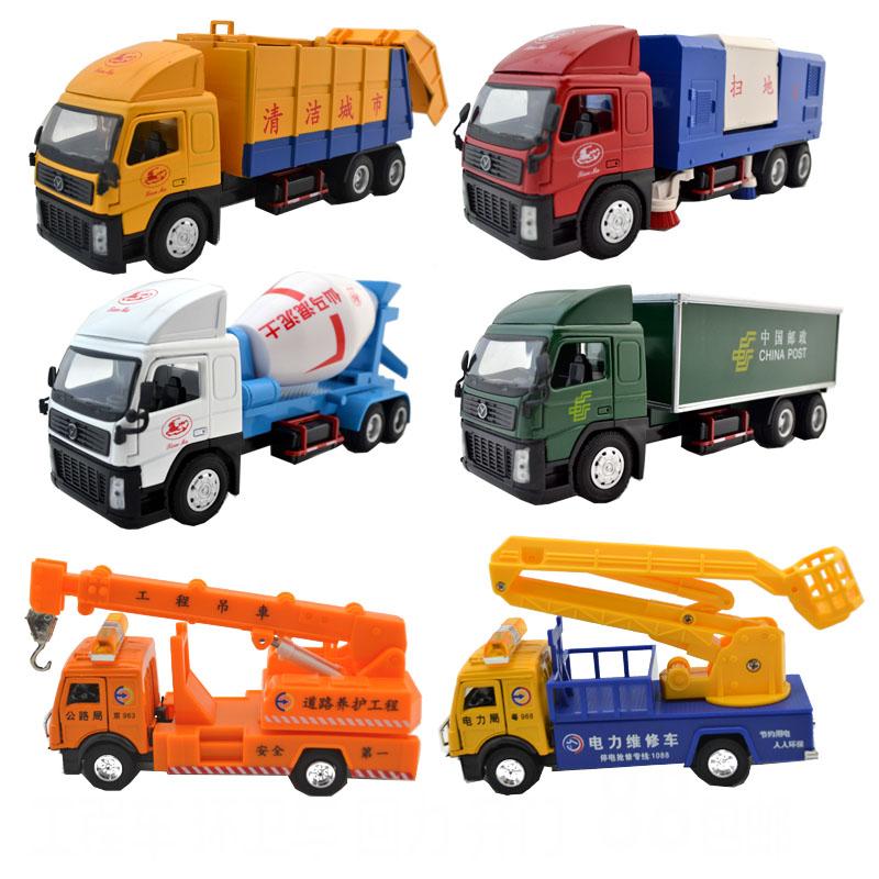 88 engineering car cement truck crane alloy WARRIOR car toy car model(China (Mainland))