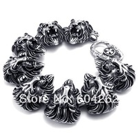 """Jewelry!Free Shipping!Retail+Wholesale 316L Stainless Steel 8.8""""men's Bracelets 10022083"""