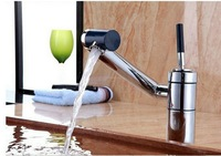 Kitchen Sink Swivel Tap Chrome Solid Brass Water Basin Spout Vessel MF-964 Mixer Tap Faucet