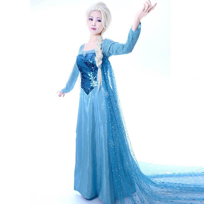 elsa costume adult frozen Princess Ariel Dress Costume For Adults