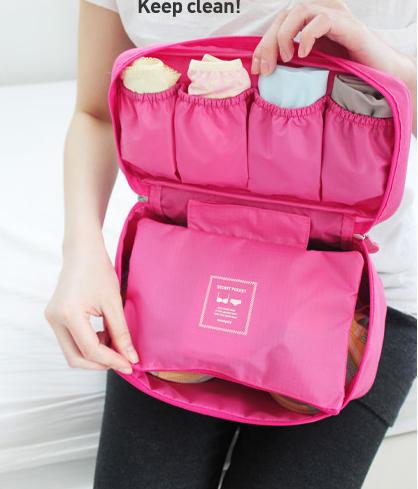 Hot Sale wholesale women/men Cosmetic/underwear/bra storage box home storage bag sorting bags travel bag underwear pouch(China (Mainland))