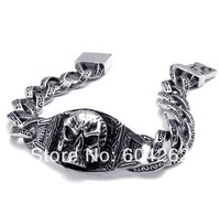 """Jewelry!Free Shipping!Retail+Wholesale 316L Stainless Steel 8.6""""men's Bracelets 10022086"""
