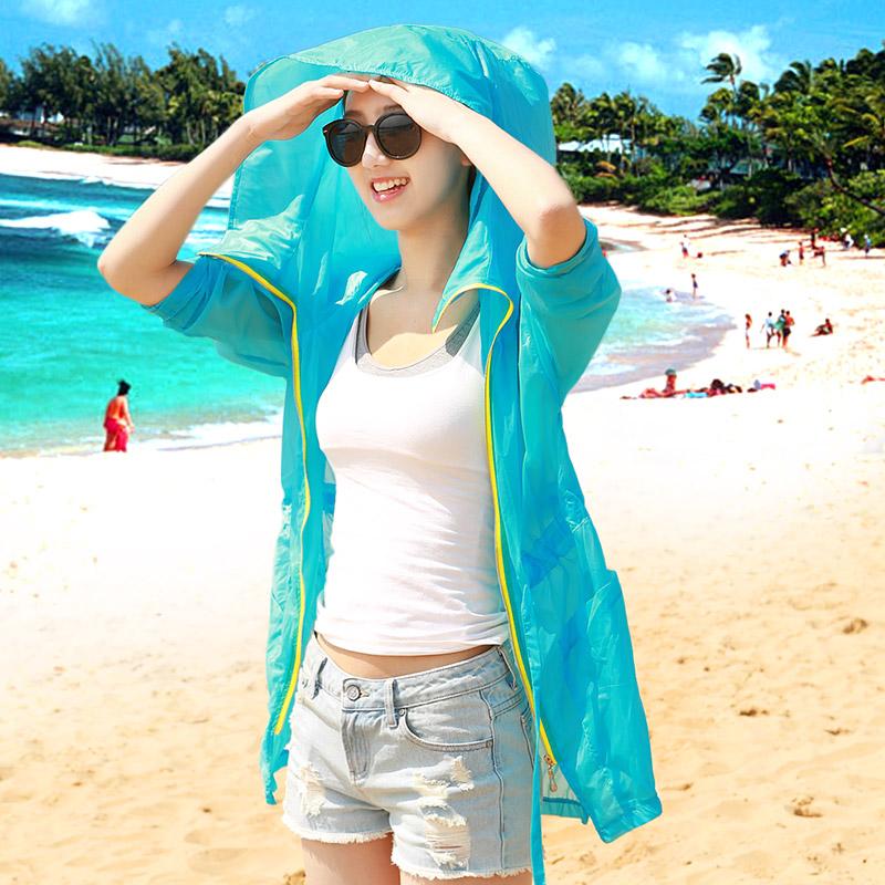 Projeto de longo 2014 primavera roupas de proteção solar de manga comprida camisa feminina transparente protetor solar plus size outerwear trincheira(China (Mainland))