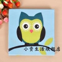 Multicolour print table napkin paper tissue facial tissue paper personalized cartoon tissue owl c23