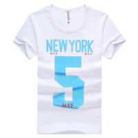 Free shipping Korean version of cultivating wild men round neck t-shirt personality 5 letters M-XXL